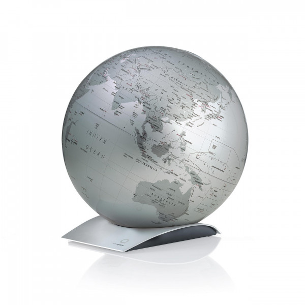 "Desk Globe Atmosphere ""New World"" Capital Q Silver - Ø 30 cm"