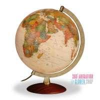Reliefglobus - Antikglobus - beleuchtet