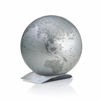 "Tischglobus Atmosphere ""New World"" Capital Q Silver - Ø 30 cm"