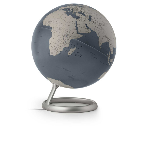 Design illuminated globe Atmosphere Evolve Steel Blue