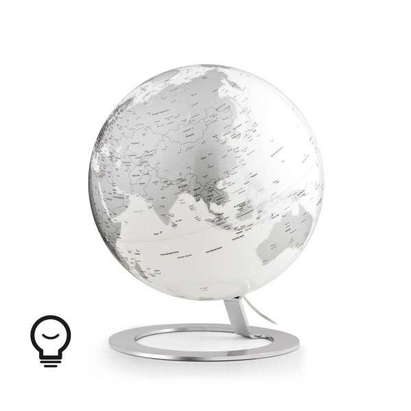 "Desk Globe Atmosphere ""New World"" iGlobe Light Chrome - Ø 25 cm"