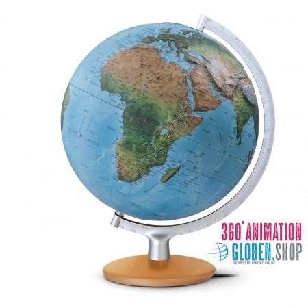 Illuminated relief globe FRI 30 17 - Ø 30 cm