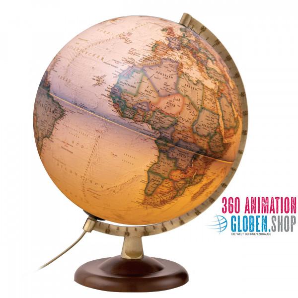 National Geographic Globus - Gold Executive - beleuchtet - deutsches Kartenbild